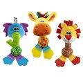 22 см Оптовая погремушки Детские плюшевые игрушки мягкие колокольчик с teether Животных модель детские 0-12 месяцев brinquedos WJ251