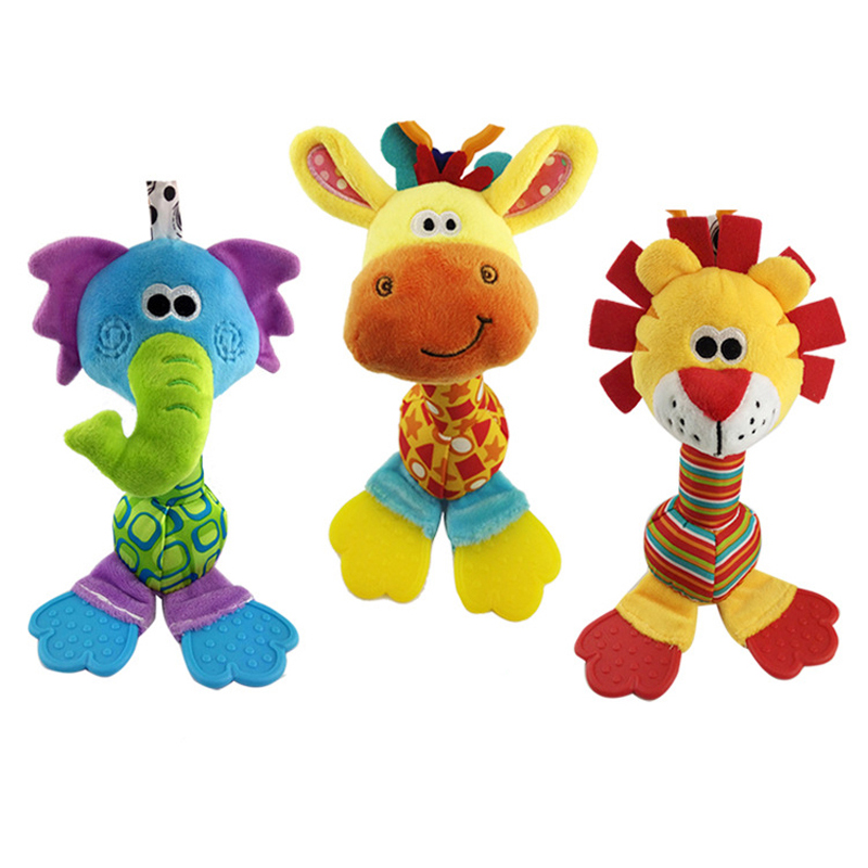 Plush Baby Toys : Cm rattles baby plush toy with teether months