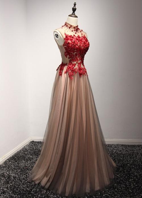 VENSANAC 2018 High Neck Luxury Crystal En Line Long Evening Dresses - Särskilda tillfällen klänningar - Foto 3