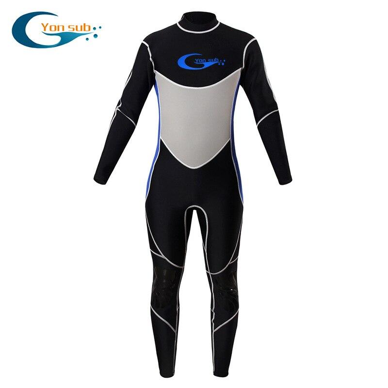 3mm combinaisons Premium CR néoprène combinaison humide une pièce corps complet hommes plongée sous-marine plongée en apnée surf hiver natation costumes