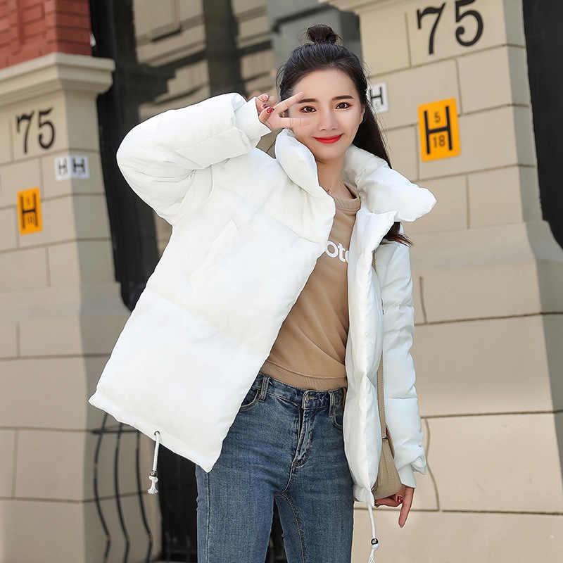 Popularne nowe ciepła jesień zima kurtka kobiety kobiet krótki styl 2019 nowy kobiety moda koreański 820