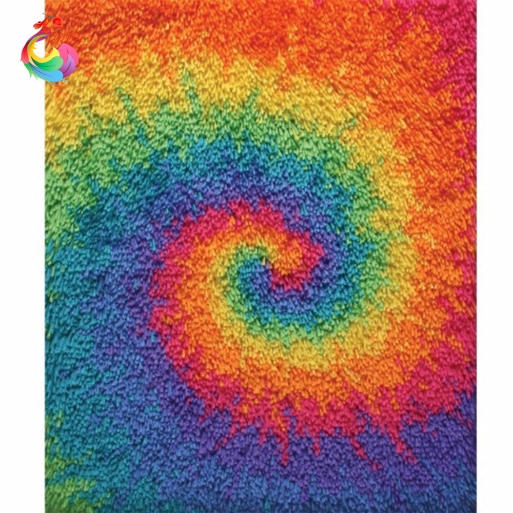 Knüpfteppich Kits Handarbeiten Unfinished Häkeln Teppich Garn Kissen Matte Handgefertigten teppich Teppich stickerei stitch themen
