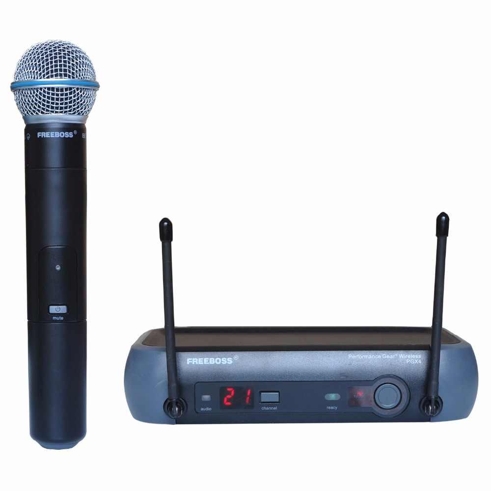 一般的な包装シングルチャネル Uhf ボーカルの専門 KTV カラオケステージ DJ 歌マイク PGX4
