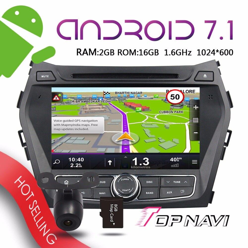 Topnavi 8 Android 7 1 Auto Players For IX45 Santa Fe 2013 2014 Automotive GPS Navigation