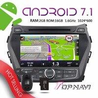 WANUSUAL 8 Android 7 1 Auto Players For IX45 Santa Fe 2013 2014 Automotive GPS Navigation