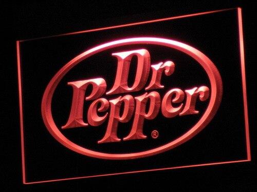 A070 Dr Pepper Cadeaux Produit Pub Bar LED Néon Signe avec On/Off 20 + Couleurs 5 Tailles à choisir