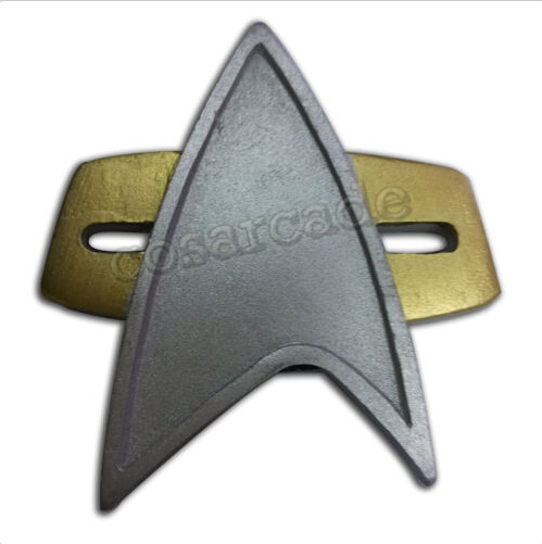 Star COSplay Starfleet Combadge Captain NEM Badge Rank Pip Pin Insignia Brooch
