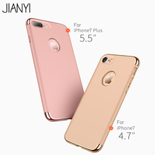JIANYI Luxury Hard Back Case for iPhone 7 Крышка i7 плюс iphone7 Case антидетонационные Крышки ПК Телефон сумка Чехлы для Apple 7 плюс охватывает