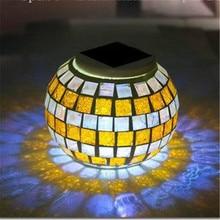 Супер яркий светодиодный Панели солнечные сад цвета: золотистый, серебристый ночник бар вечерние гирлянды Solaris энергии Открытый Главная лампы Luminaria Декор