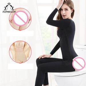 Image 5 - TOPMELON Long Body Shaper Womens Binders and Shapers Slimming Shapewear Full Length Plus Size Bodysuit for Women S 3XL
