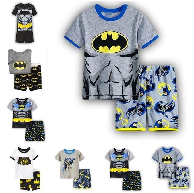 8b4353cc7548 Summer 2 7Y kids Batman kids Pajamas Pyjamas baby boy clothes ...