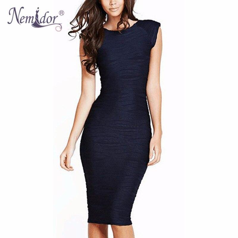 Nemidor 2017 Women Elegant Striped Bodycon O neck Work ...