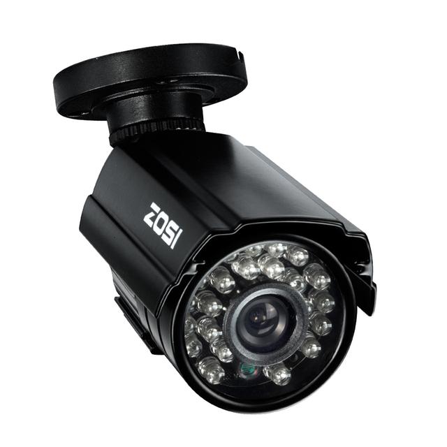 Zosi hd cmos 800tvl cctv cámara ir led impermeable al aire libre/$ number pies de visión nocturna de seguridad de interior cámara de la bala con el soporte