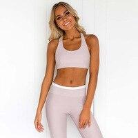 Fitness Clothing Women's yoga Suit Set Workout Gym Fitness Jumpsuit Pants Sexy Yoga Set Bandage Gym leggings+Bra Sports Clothes