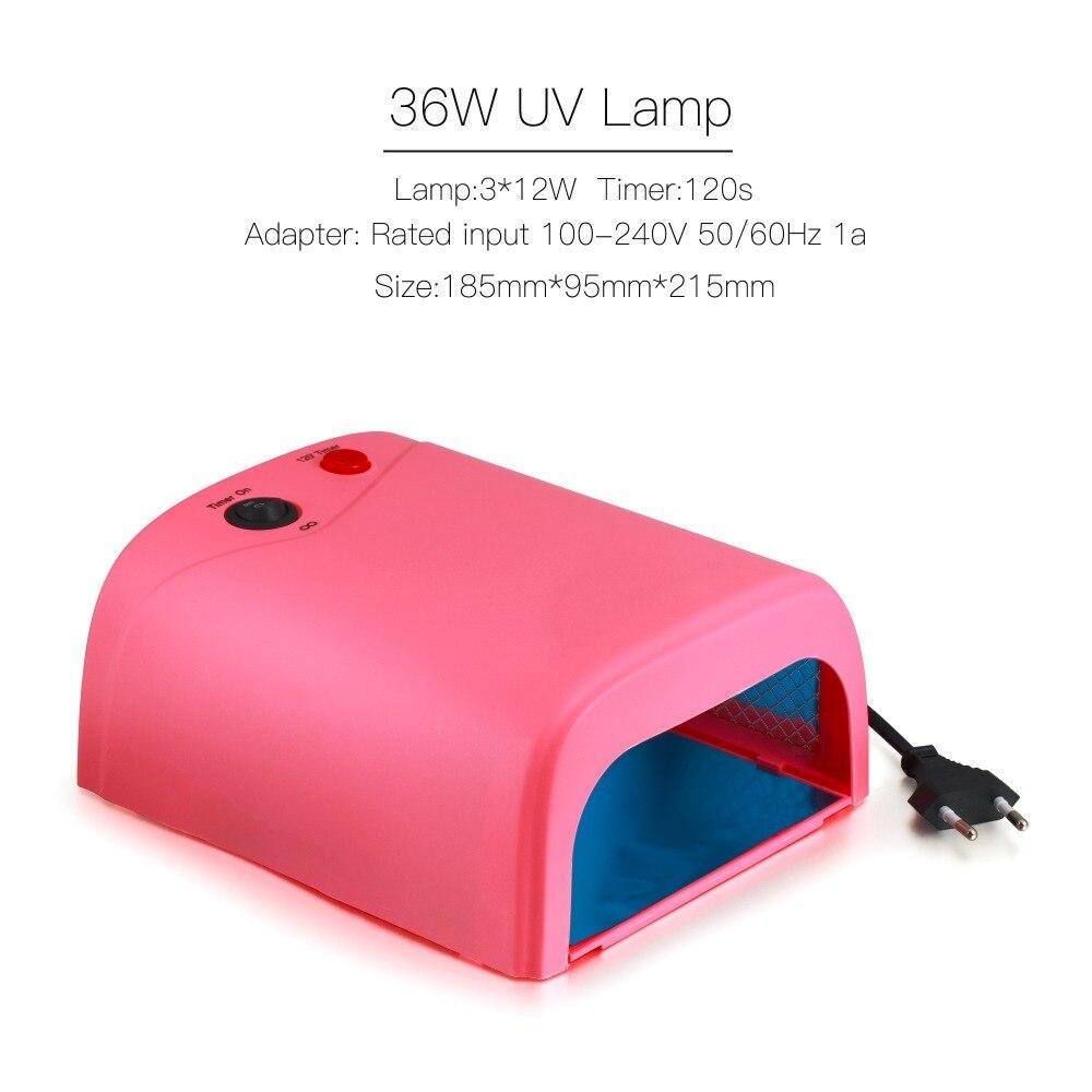 BURANO UV/LED lamp manicure set Nail Art UV Gel Kits sets Tools Brush Tips Glue Acrylic Powder Set 004 - 2