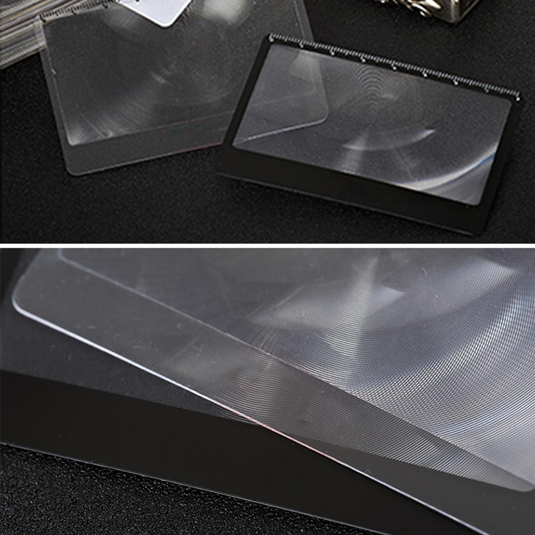 1 шт. Mgnifying стекло Кредитная карта 3 X увеличительное стекло для чтения книги