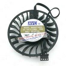 New Original AVC BAZA0714B2U DC12V 0.6A 64x16MM 4Lines Graphics card cooling fan