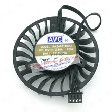 Ventilateur de refroidissement de carte graphique dorigine, BAZA0714B2U, 0,6 a, 64x16MM, 4 lignes, AVC 12v dc