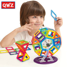 QWZ Magnetic Designer 60PCS Brand Magnetic Building Blocks Toys Mini DIY Educational Construction Bricks Plastic Children Toys 78pcs magnetic building blocks toys diy models magnetic designer learning educational plastic bricks children toys for kids gift