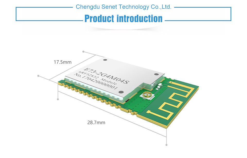 E73-2G4M04S nRF52832 2.4GHz wireless rf module (3)