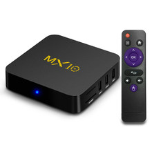 TV Box MX10 Smart Android 8.1 TV Box RK3328 4K VP9 H.265 HDR10 USB3.0 4GB / 64GB DLNA Miracast Airplay WiFi LAN TV box(China)