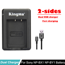 NP-BX1 NP BX1 NP-BY1 NPBY1 BY1 2-sides Dual USB Mini Camera battery charger For Sony HDR-AS100v HDR-AZ1 AZ1VR AZ1VB AZ1VW