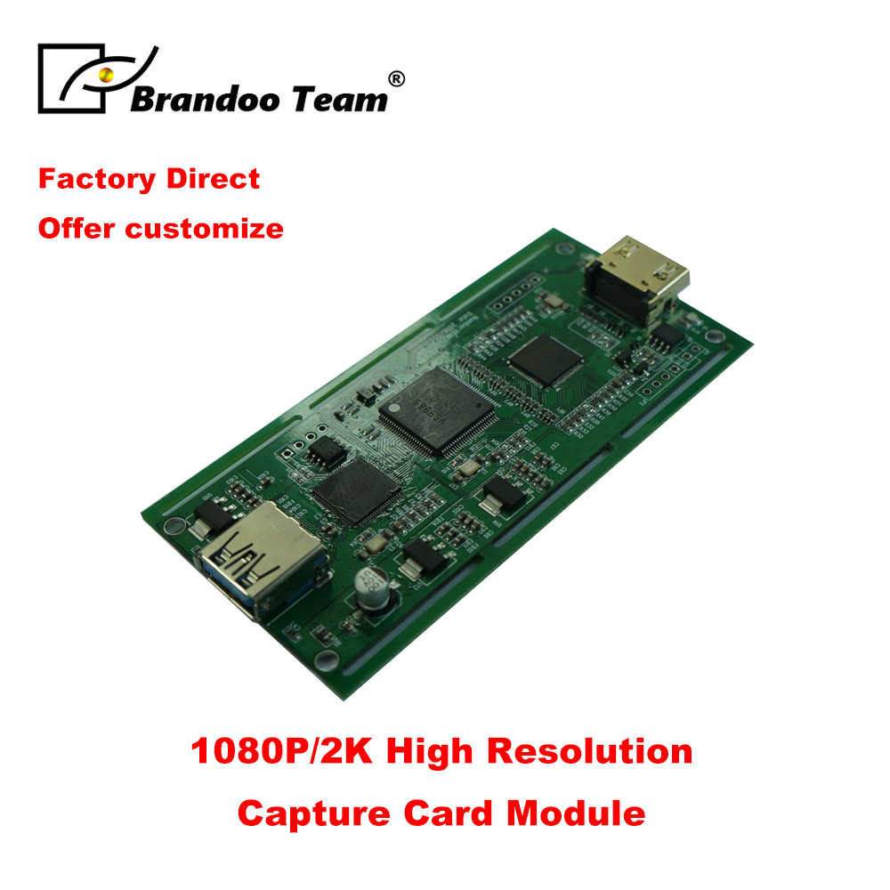 BRANDOO Factory Direct HDMI To USB3.0 Game Capture Mainboard/module/motherboard,free Shipping
