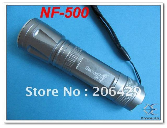 New ScaredFire NF-500 Zoomable Flashlight 3 Mode CREE Q5 LED Torch