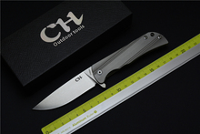CH3001 folding knife D2 blade titanium alloy handle camping hunting EDC outdoor tool