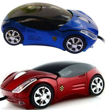 2015 Brand New Hot Sale Fashion Red/Blue Mini 3D Car Shape USB Optical Wired Mouse Mice For PC/Laptop/Computer Wholesale
