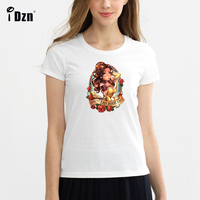 Zomer Vrouwen T-shirt Punk Sneeuwwitje Alice Mermaid Ariel Schoonheid en het Beest Belle Cinderella Meisje Korte Mouw Print Tees Tops
