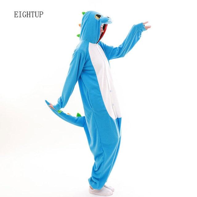 541c4427b9 Unisex Fleece Animal Blue Dinosaur Onesies Adult Novelty Green Dragon Pajamas  Pyjamas Jumpsuit Nightwear Carnival Costumes