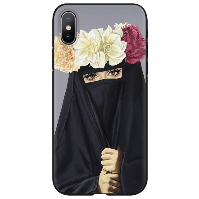 Muslim Islamic Hijab Gril Eye Queen TPU Cases for iphone 6 6S 7 8 Plus Cover FOR iphone X XS Max XR Case for iphone 10 5 5S SE 3