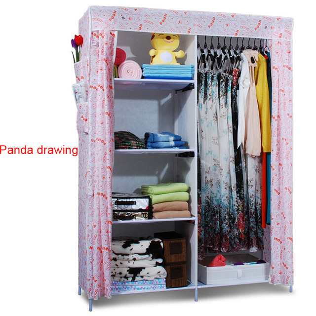 Beau Clothes Closet Wardrobe Armoire Storage Organizer Clothespress Canvas Space  Saver Cabinets Cupboard