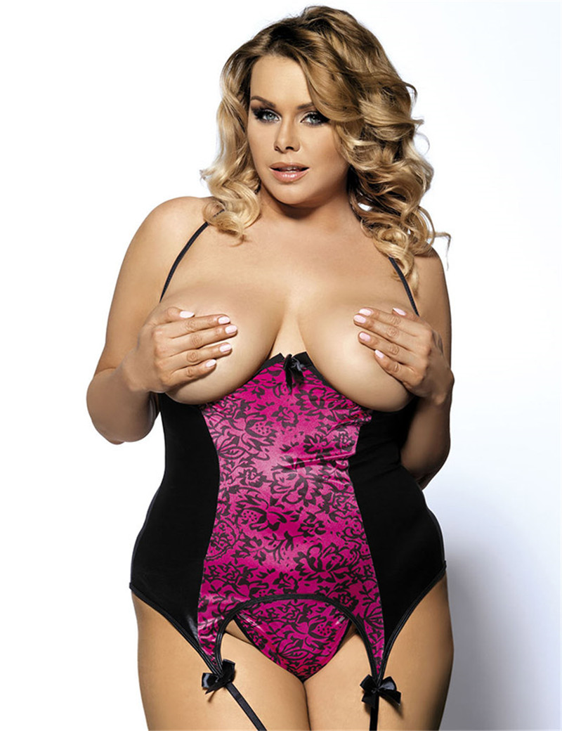 Something sexy plus size corset lingerie very