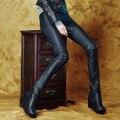 autumn winter pu leather pants boots trousers thin pencil pants low waist pants 2015 fashion women leggings