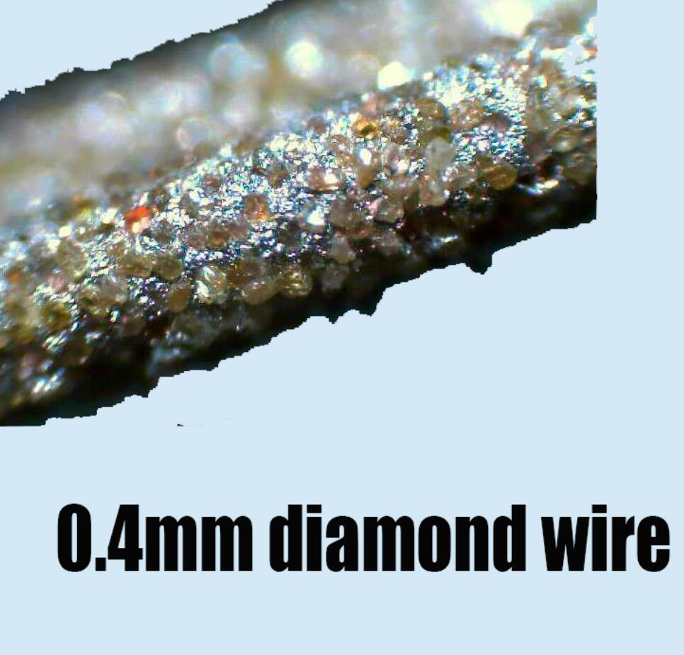 0.4mm New diamond wire saws Jade porcelain brittle materials Cutting ...