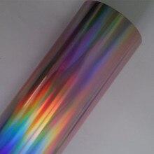 Горячее тиснение фольгой розовый плотная Голографическая фольга горячего нажмите на бумаге или пластиковой 64 см x 120 м тепла тиснения пленка переводная фольга