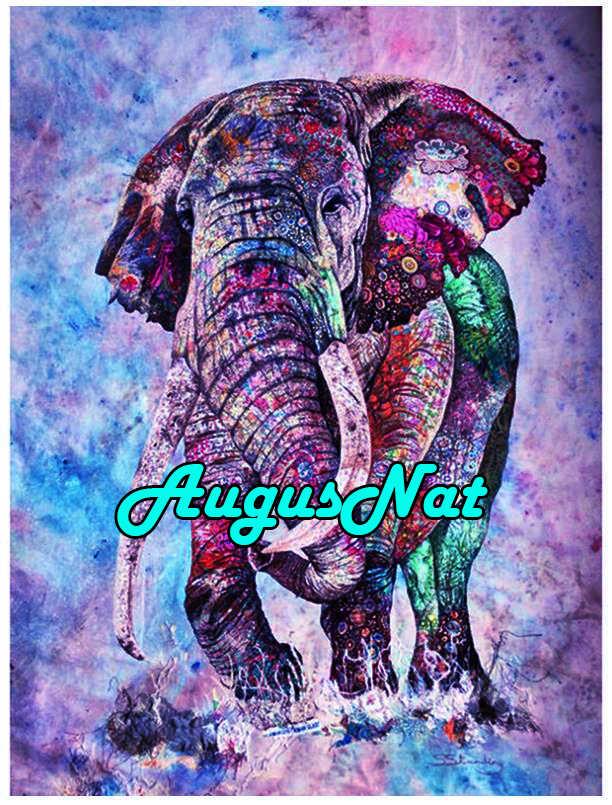 Tier diamant malerei elefant dimont stickerei volle 5d diamant strass bild ölfarbe durch zahl leinwand malen große größe