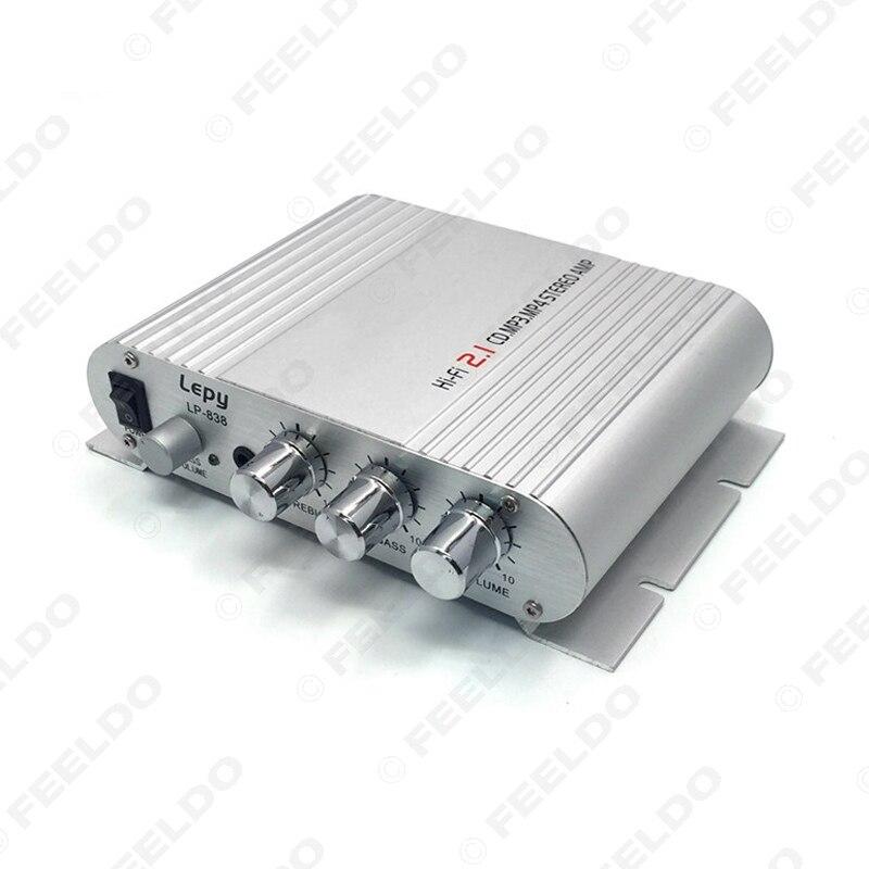 30Pcs Super Bass 2.1 <font><b>3</b></font> Channel Stereo Mini Computer Car Amplifier Subwoofer Out Subwoofer AMP 12V Power #FD-4018