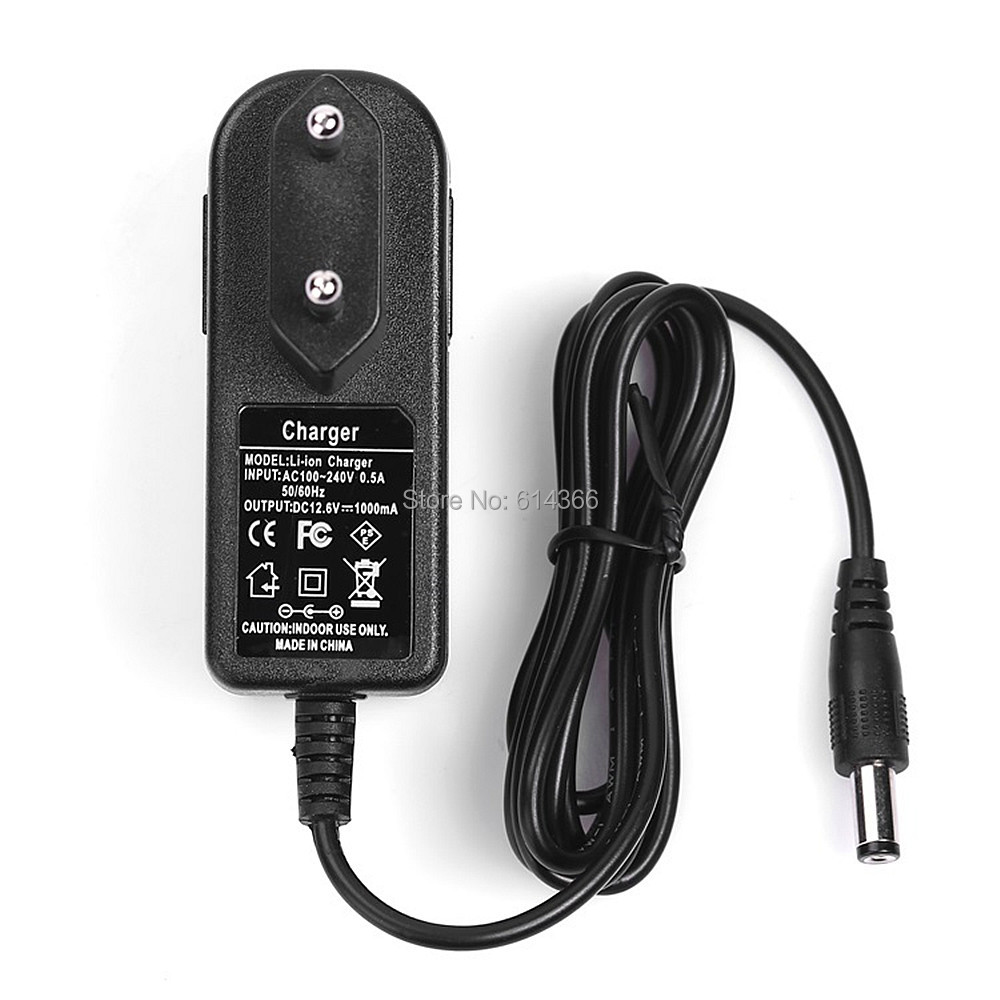 NEW 500PCS EU US UK AU plug100-240VAC 12.6V 1A Power adapter 12.6V1000mA adapter DC head is 5.5 * 2.1mm power adapter 12v 1a ac 100 240v dc eu us uk au charger optional for security surveillance cctv cameras