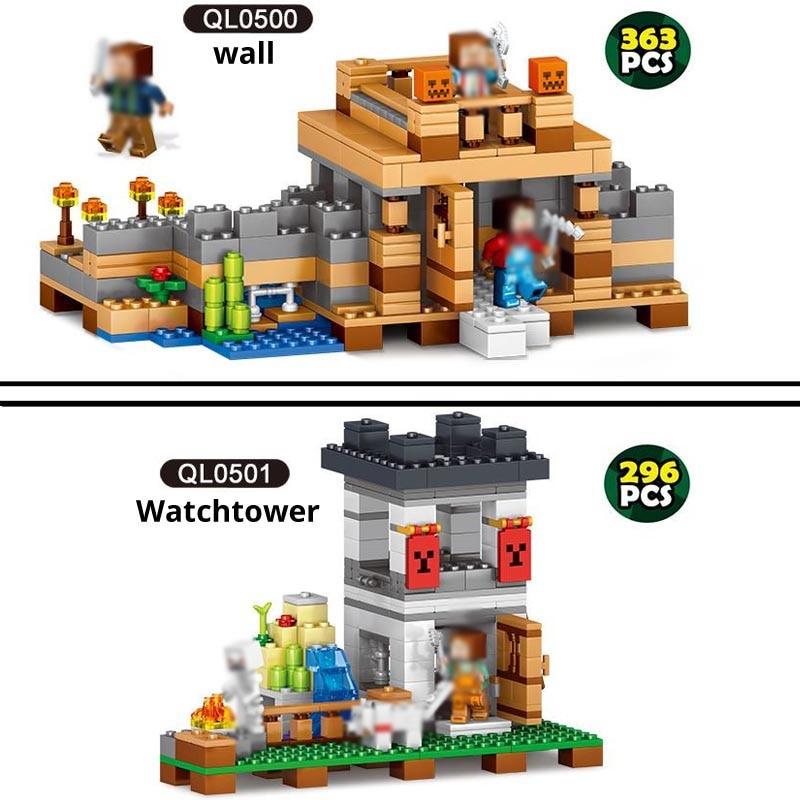 NIEUWE Qunlong minecraft QL0512 Dorp Boerderij Assemblage bouwstenen mijn wereld 21128 jongen verjaardag christmas gift speelgoed voor kinderen-in Blokken van Speelgoed & Hobbies op  Groep 3
