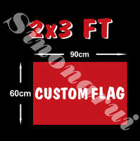 Custom flag 60*90cm Polyester Flag all logo all color royal flag With White Sleeve Metal Gromets