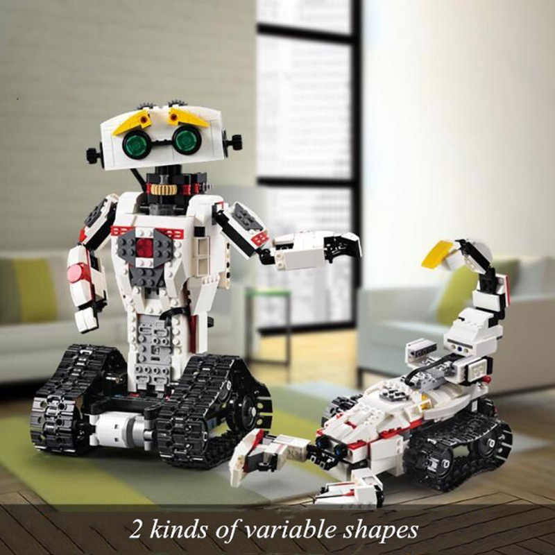 RC robot blocs de construction transformer Robot briques jouets motorisé Boost créatif 2in1 créateur briques modèle brinquedos juguetes