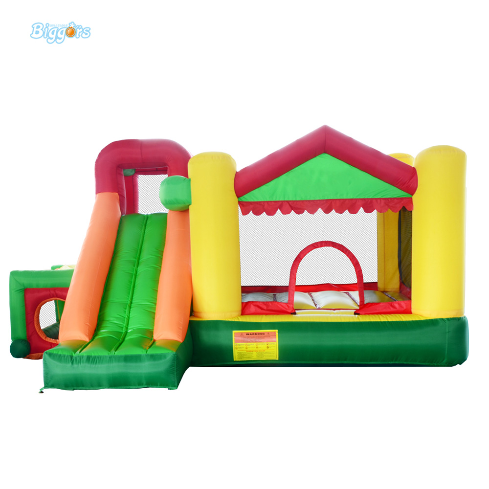 HOT SALE Mini bouncy castle inflatable bouncer jumping castle with slide for residential use with blower jumping inflatable castle bouncy castle jumper bouncer castle inflatable bouncer with slide