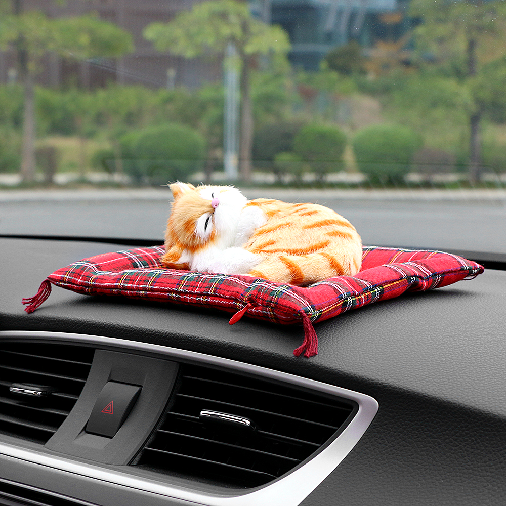 Car ornaments simulation sleeping dog automotive solid perfume car ornaments simulation sleeping dog automotive solid perfume dashboard decoration toys air fresheners home decor accessories in ornaments from automobiles teraionfo