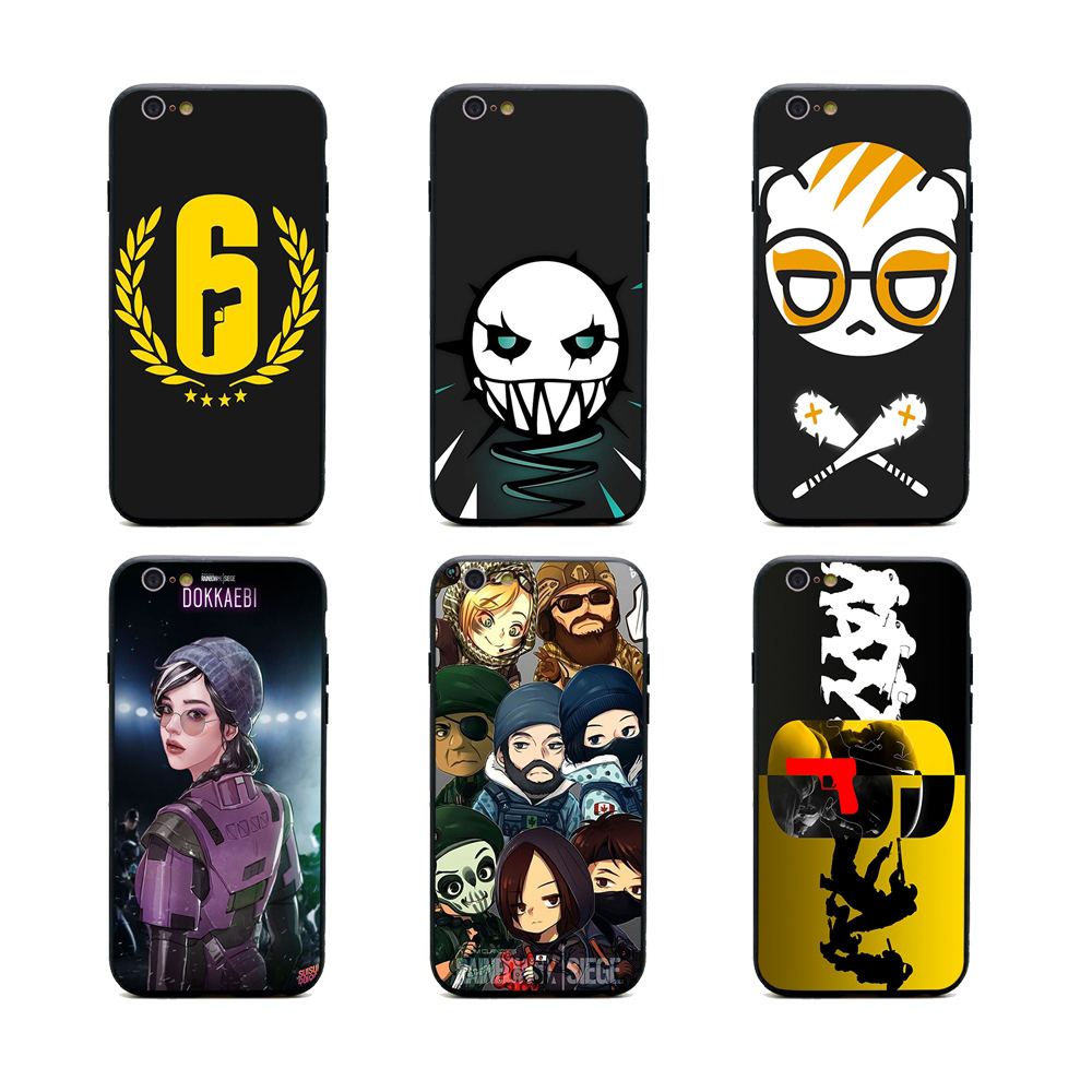 rainbow six siege phone cases TPU+PC Black covers for iPhone X 6 7 8 plus 5 5s 6s se for ...