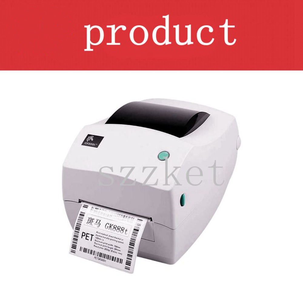 New Original GK888T Barcode Stickers Thermal Transfer Printer , Thermal Label Printers, Barcode Thermal Printer GK888 For Zebra