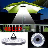 48 LED Lantern Poles Umbrella Light Portable Outdoor Camping Light For Beach Tent Patio Garden Emergency Lights Battery Powered