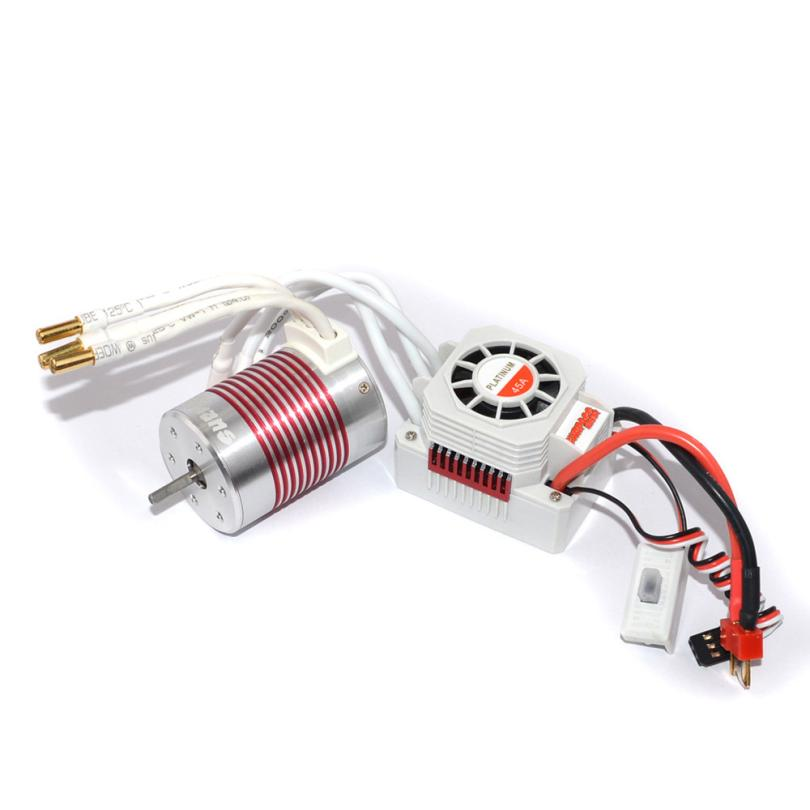 SurpassHobby Waterproof 3650 3100KV Brushless Sensorless Motor With 45A ESC For 1/10 RC Car Truck Z918 1 10 rc car 3650 senseless brushless 4300 3100 2050kv motor